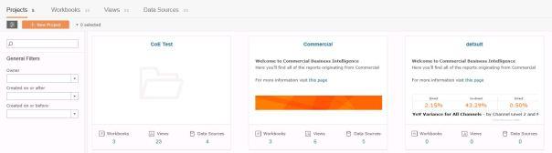 Commercial server folder overview